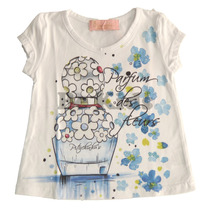 Blusa Cotton Perfume - Azul - Pituchinhu´s