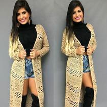 Casaco De Tricot Feminio Sobretudo Blusa De Lã
