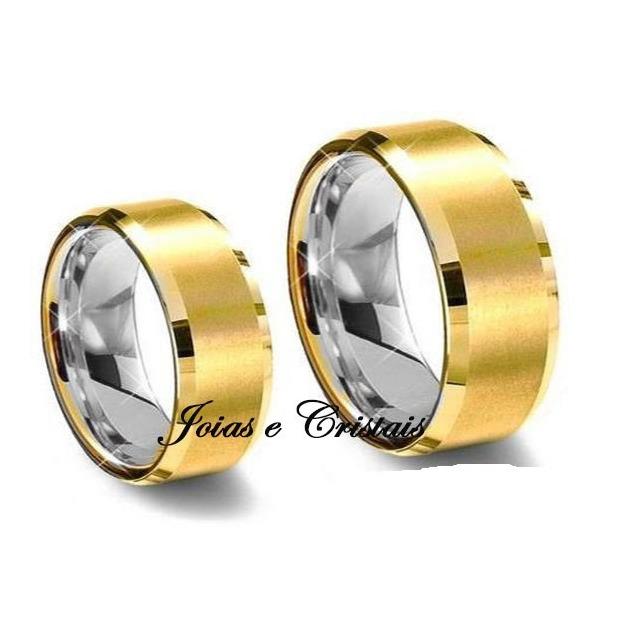 290f50d7591 Par Alianças Moedas Antiga Casamento Noivado 7 Mm Cor Ouro em ...