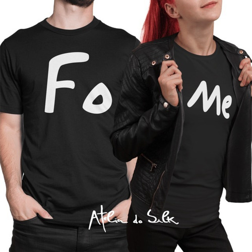 4c61ebaf78 Kit 2 Camisetas Camisa Casal Namorados Fome Comida Love Amor à venda ...