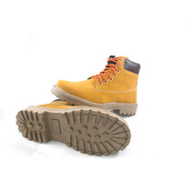 Bota Coturno Cano Baixo Hip Hop Yellow Boots Mostarda Vegano