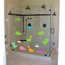 Adesivo Parede Porta Box Banheiro Infantil Kit Dinossauro