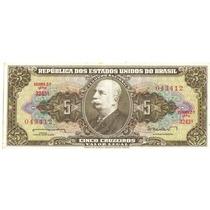 1 Cédula Dinheiro Antigo, 5 Cruzeiros, 2ª Série, Ano 1962