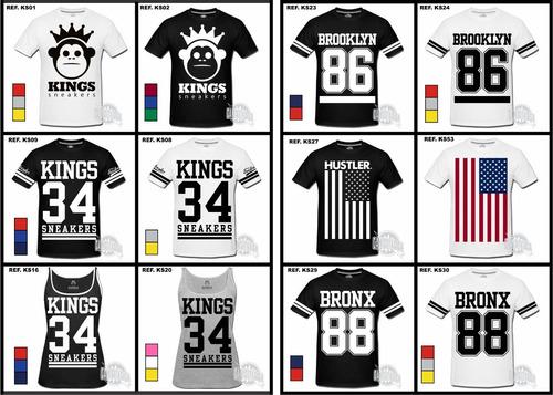 Camiseta Feminina Kings Sneakers Bronx Brooklyn La Ny Swag. Preço  R  44 9  Veja MercadoLibre 838881a3b0108