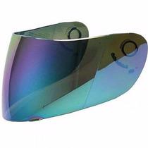 Agv K3/k4 Viseira Fumê, Cromada, Azul, Iridium, Camaleão