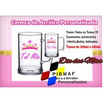50 Canecas Acrílico Personalizada Dia Das Mães 300ml