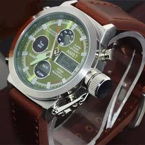Relógio Amst-3003-silver - Ganhe 1 Porta-latas !!!!