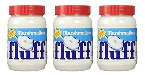 Kit 03 Marshmallow Colher Pote Fluff O Melhor Do Mundo 213g