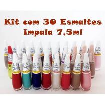 12e38e9cf Kit C 30 Esmalte Impala Atacado + Alicate Mundial 522 à venda em ...