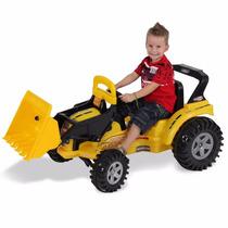 Trator Amarelo Infantil Elétrico Biemme Big Boss 6v Com Pá