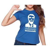 Blusa Feminina Jair Bolsonaro Protesto Manga Curta Cores