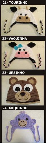 150f72090735c Touca Croche De Animais Bichinhos - Newborn Fotografia Bebes R 32.9 ...