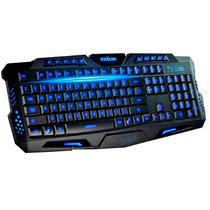Teclado Gamer Luminoso 3 Cores Tipo Razer Chroma Abnt2 A2