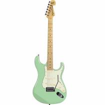 Guitarra Tagima T635 Strato Verde Pastel Hand Made In Brasil