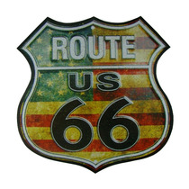 Placa Em Mdf 32 X 32 Cm - Route 66 - Quadro