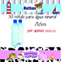 50 Rótulo Etiqueta Para Garrafinha De Água Mineral