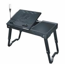 Notebook Table Com Hub 4 Portas Usb Luminária Cooler 3x1