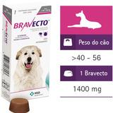Bravecto Cães 40kg A 60kg 1400mg Msd Antipulgas E Carrapatos