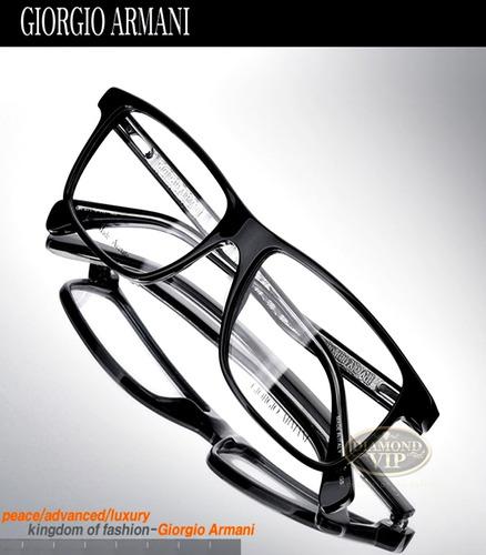 456c5167be976 Comprar Armação Óculos Masculino Grau Armani Original Preto Giorgio ...
