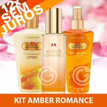 Kit Amber Romance Perfume + Creme + Splash Victoria´s Secret