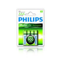 Pilha Philips Recarregável Aaa 900 Mah - Original - 4un - Nf