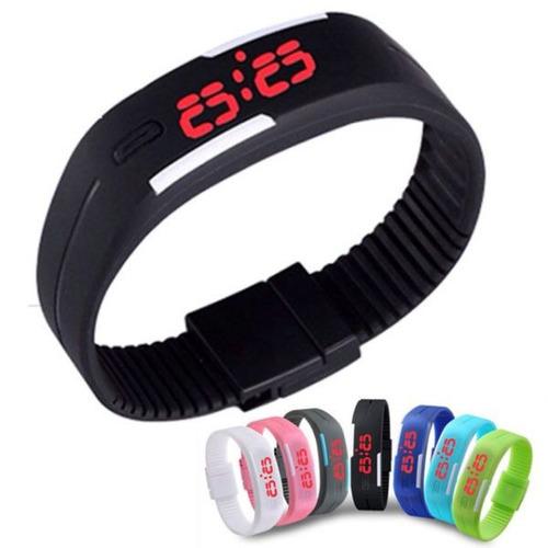 2c33e5c3769 02 Relógio Led Digital Sport Pulseira Silicone - Cores - R  6 en ...