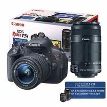 Camera Canon Eos T5i Kit Com 2 Lente 18-55mm + 55-250mm