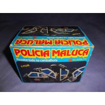 Brinquedo Antigo Carro Policia Maluca Da Glasslite Na Caixa