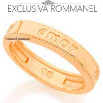 Rommanel Anel Com Descriçao Amor Ana Hickmann 512131