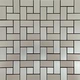 Pastilha Adesiva Metálica Escovada Parede Mosaicos 7 Modelos
