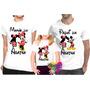 Kit Com 3 Peças Camisa Personalizada Mickey E Minnie - A3