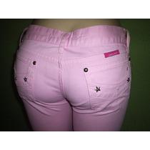 Calça Jeans Color Corsario Tamanho 40