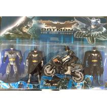 Kit 4 Bonecos Batman The Dark Knight + Bat Moto