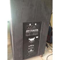 Caixa De Som Profissional Attack Sub Sb-500 Ativa 18