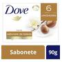 Sabonete Em Barra Dove Karité E Baunilha 90g 6 Unidades Original