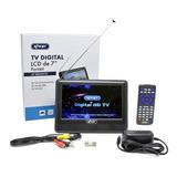 Mini Tv Digital Full Seg Lcd De 7 Polegadas - Kp-md004 / Dt