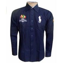 Camisa Social England Azul Marinho