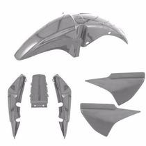Kit Plastico Carenagem P/ Titan 150 Ano 2007 Prata Metálico