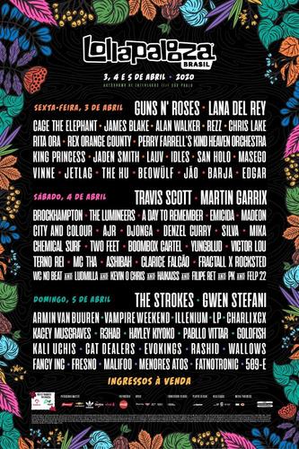 Par De Ingressos - Lollapalooza - 2020-lolla Pass - 3 Dias