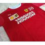 Camiseta Camisa Ferrari Santander Masculina Original