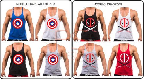 2fc52b78fc1ac Camiseta Regata Cavada Modelo Exclusivo Musculação Academia