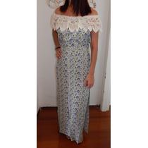 Vestido Longo Cigana Com Renda Visco Flor