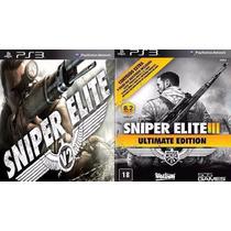 Sniper Elite V2 + 3 Ultimate Edition Jogo Psn Ps3