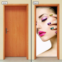 Adesivo Decorativo De Porta - Salão De Beleza - 432mlpt