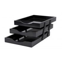 Caixa De Corresp (escaninho) Tripla N°3 Mdf Black Piano