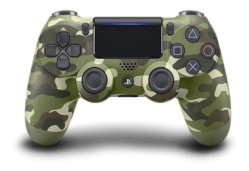 Controle Joystick  Sem Fio Sony Dualshock 4 Green Camouflage