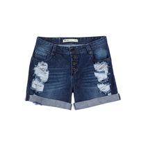 Shorts Feminino Modelagem Boyfriend Em Jeans - Hering