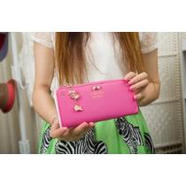 Carteira De Mão Feminina Bolsa Acessório Rosa, Preta E Pink