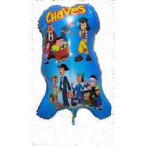 Balão Mertalizado Turma Do Chaves C/ 50 Balões