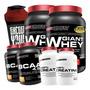 Combo Duplo Whey Protein + 2x Bcaa + 2x Creatina + Shaker Original